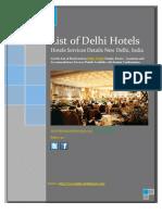 List of Delhi Hotels - Reviews & Locations