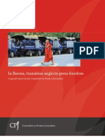 In Burma, transition neglects press freedom--Committee to Protect Journalists