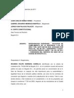 HERIDA DE MUERTE LICITACION UAESP 001 DE 2011 - ASEO BOGOTA