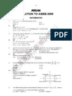 AIEEE 2005 Maths