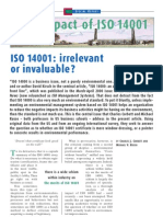 The Impact of ISO 14000
