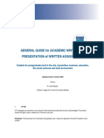 Academic Writing Guide 2009