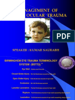 Blunt Trauma Management of Eye