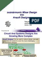 Sub Harmonic Mixer Design With Ansoft Designer
