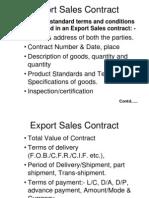 Export Sales Contract