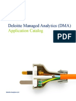 Deloitte Managed Analytics (DMA) Application Catalog