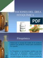 Definiciones y Conceptos de Fitoquimica 2011