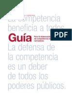 Guia para la elaboración de memorias de competencia de proyectos normativos