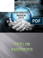 INQUIZZITIVE MINDS 2011 PRELIM ANSWERS