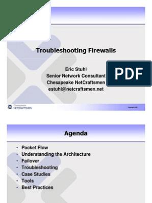 Troubleshooting Firewalls | Transmission Control Protocol