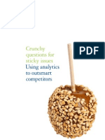 Deloitte Analytics Crunchy Questions for Sticky Issues