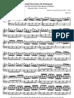 Second overture in Solomon - Haendel, Georg Friederich