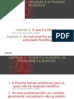 O QUE É A FILOSOFIA - OS PROBLEMAS FILOSÓFICOS[1]