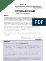 CFPCO Lederman - Techniques Harmoniques