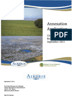 Annexation Application Cover Page and Letter