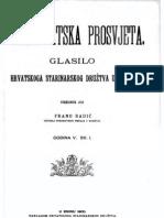 Frano Radic - Starohrvatska Prosvjeta - Glasilo Hrvatskoga Starinarskog Druztva u Kninu - God. v. Sv. 1