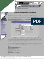 Maya Tutorial - Creating the Logo Effect From the Matrix