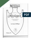 Celtic Harp Score Partition de Harpe Medieval to Moderne