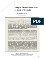 Accountability in International Aid - The Case of Georgia (by Till Bruckner 2011)