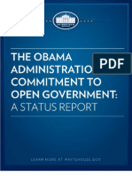 White House Open Government Status Report