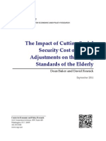 The Impact of Cutting Social Security Cost of Living Adjustments on the Living Standards of the Elderly