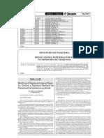 Modificatoria Del to de Registro, Control y Vigil an CIA Sanitaria de Productos Farmaceuticos