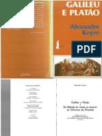KOYRÉ, Alexandre. Galileu e Platão