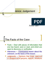 Fact Inference Judgement
