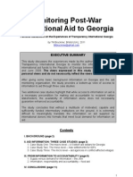 Monitoring Post-War International Aid to Georgia (Till Bruckner 2011)
