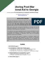 Monitoring Post-War International Aid to Georgia (Till Bruckner 2011)