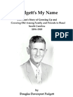 Padgett's My Name - by D.D. Padgett, as told to his daughter Ruby P. Herlong