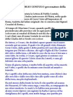 Lettera Di Publio Lentulo