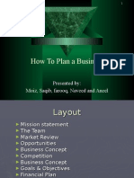 How to Plan a Business