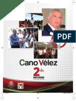 Segundo Informe de Actividades Legislativas del Diputado Jesus Alberto Cano Velez