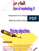 Marketing Pricing Objectives