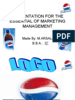 Presentation for the Essential of Marketing Management