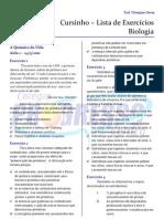 Cursinho - Biologia - Lista 01 - Componentes Químicos da Célula