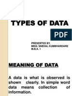 Rm Types of Data