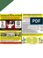 Papsttum - Inquisition oder Sekularisierung? (Papstbesuch 2011 in Berlin Erfurt Eichsfeld Freiburg)