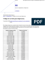 Códigos de servicio para Impresoras. « Ingenioysoluciones