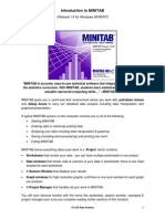 Introduction to Minitab