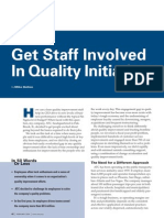 Get Staff Involved in Quality Initiatives