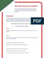 CONCENTRACIÓN DE SOLUCIONES