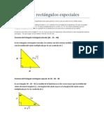 Triángulos rectángulos especiales