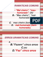 Aula 02 - Erros comuns da língua