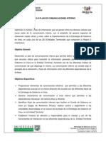 Modelo Plan de Comunicaciones Interno y Externo