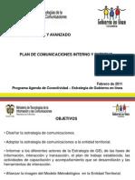 Plan de Comunicaciones Interno y Externo