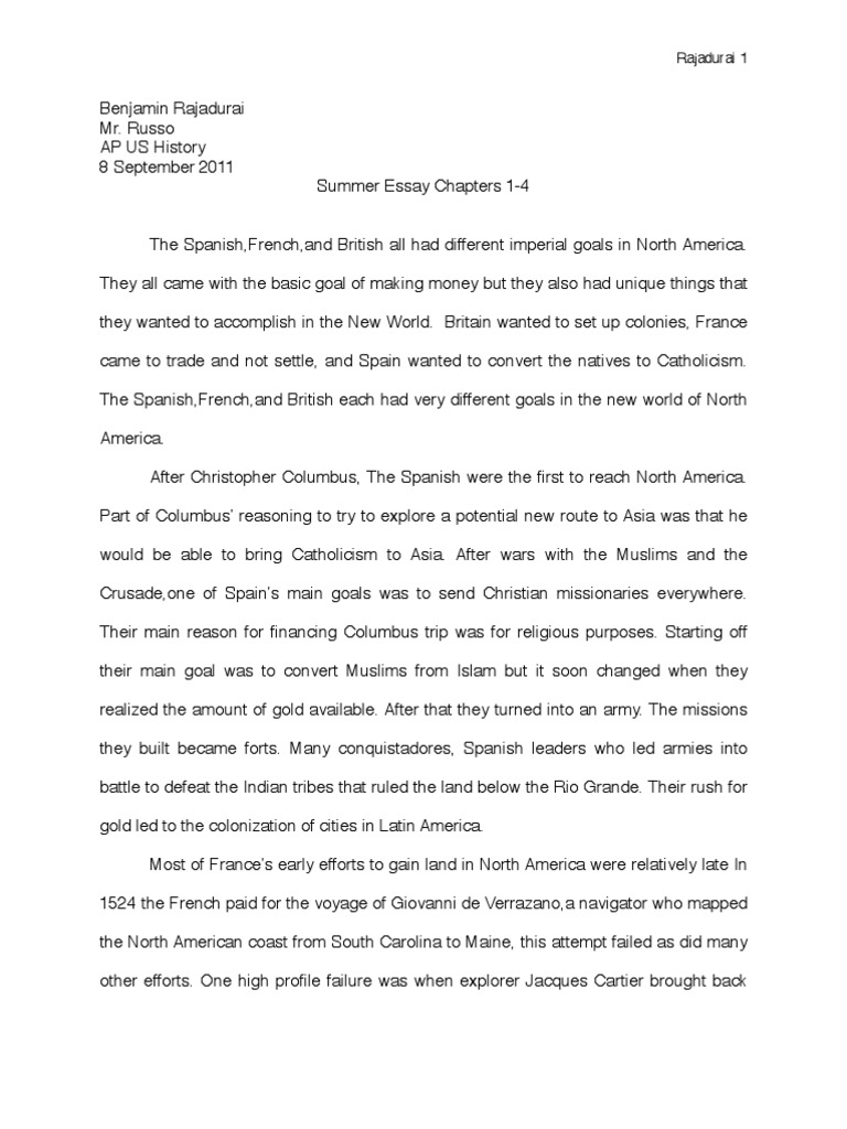 ap history summer essay christopher columbus the united states