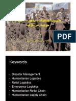 Logistics Management in Disaster
