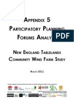 Appendix 5 ~ Participatory Planning Forums Analysis